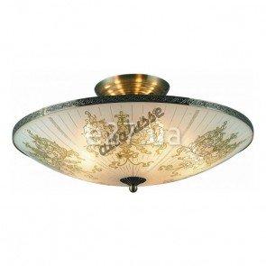 Altalusse INL-9258C-05 Antique Brass & Walnut