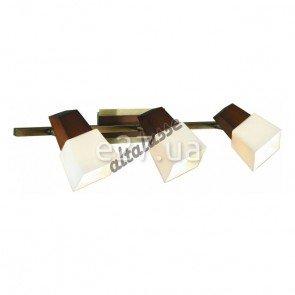 Altalusse INL-9283W-03 Antique Brass & Walnut