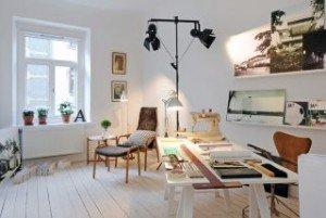 Кабинет в скандинавском стиле